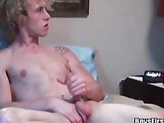 Cute blonde fucked by his boyfriend