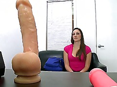 Super hot casting on famous couch with smashing beautiful Melanie Hicks. She do it first time on a camera and you are in the forefront. She have big tits and Melanie really wants to play with a dildo.