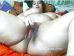 Webcams 2014 - Gorgeous BBW w HUGE ASS Spreads Eagle 2