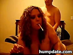 Smoking wife gets her pussy fucked doggystyle