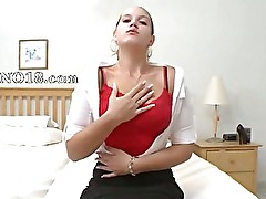 Horny amateur rubbing her cunt lips