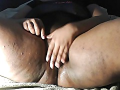 Ebony BBW Masturbating, Just for you...