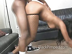 Ghetto sex is rough and nasty for this poor black amateur slut