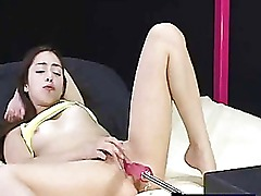 Machine fuck with young amateur