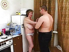 Busty granny bangs younger