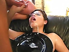 Short Haired French Amateur In An Orgy
