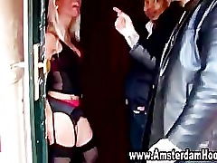 Real european prostitute sucks customer cock