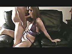 Girlfriend getting jammed on the love seat