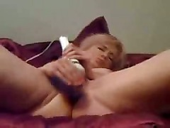 Blonde cutie and her sex toys