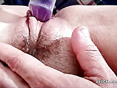Busty brunette girlfriend gets snatch toyed and fucked