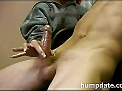 Crazy two finger handjob with happy ending