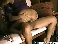 Sexy babe takes a good ride on hubbys cock