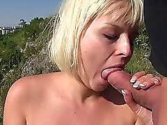 Amateur Alexis Leone plowed in public