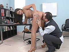 Amateur galfriend Cipriana being licked her clitories by James then fucked doggystyle.