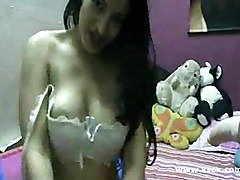 Busty amateur Lana sex machine webcam
