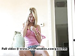 Nicole funny amateur busty blonde playing