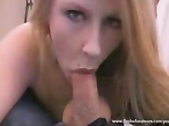Amateur milf blowjob and cum swallow