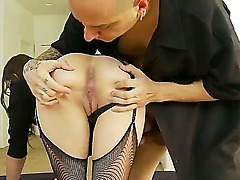 Beautiful Anna Malii is having her pussy nicely fucked by the amazing cock of her boyfriend, that is shoving his cock not only in her cunt but in her butt too.
