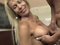 Blonde amateur teacher drenched in jizz