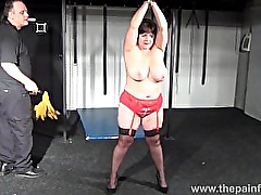Busty bbw Andreas hardcore breast whipping and extreme amateur bdsm