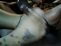 Ebony foot job