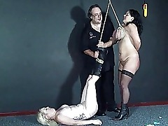 Two amateur slavegirls extreme needle torture