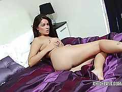 British hottie Ava Dalush fucks her pussy with a toy