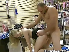 Blonde Gives Up Pussy To Stranger In Backroom