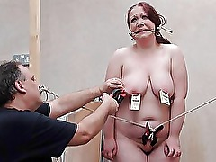 Bizarre fat slave punishment and homemade tools bd