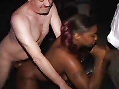 Real amateur ebony public cinema fuck