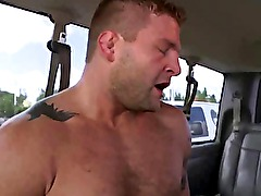 Straight amateur blows his load after fucking tight ass