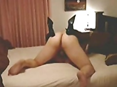 Amateur couple is having fun at the motel