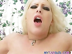 Busty MILF in bed with a stranger