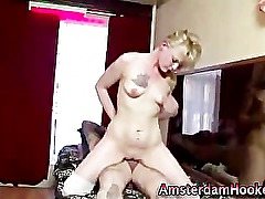 Amateur dutch prozzy fucks cock