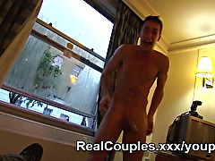 Candid couple sexy frolics filmed
