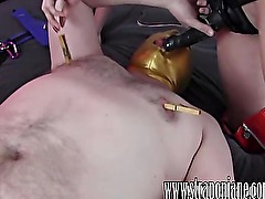 Submissive gimp fucked hard by FemDom Strapon Jane