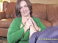 Kayla returns for bbw fluffer tryout part1
