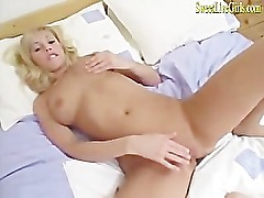 amateur hot busty blonde housewife plays with her dildo(2).mp4