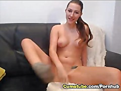 Horny British Babe Squriting Closeup