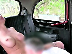 Real raven amateur gets oral from taxi driver