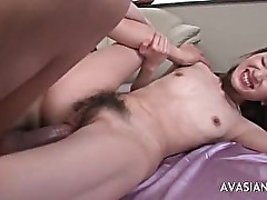 Very hairy Asian ass fuking hard