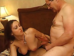 Hot Amateur couple and curious old man hard sex