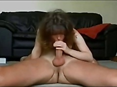 Horny Amateur Mom Sucks and Fucks