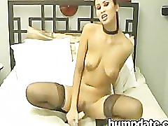 Asian beauty dildoing her snatch