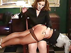 Naughty amateur chick getting spanked hard