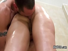 amateur babe takes big cock in het tight oiled ass