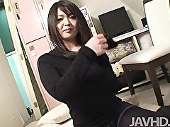 Amateur mom Aiko Sawawatari fucked like a bitch