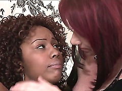 Ebony hot Kylie Ireland first tries lesbian fuck with nasty Misty Stone!