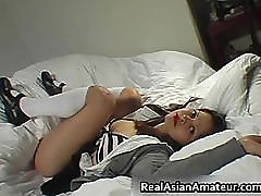Another Asian schoolgirl pussy fingered part4