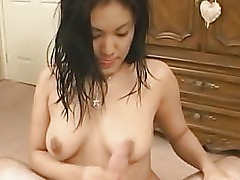 cute asian amateur is giving a hot blowjob